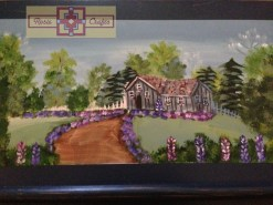 Rosie Crafts Cottage House Painted Wooden Snack Tray