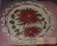 Rosie Crafts Poinsettia Charger