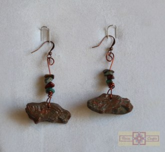 Artisan Tribes Polymer Clay Tribal Fish Earrings