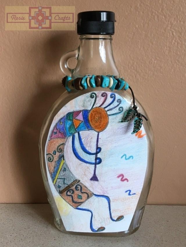 Artisan Tribes Kokopelli Fragrance Glass Bottle