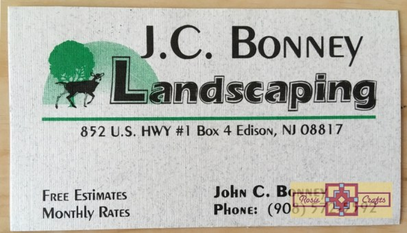 Rosie Crafts Landscaping Company Business Card Design