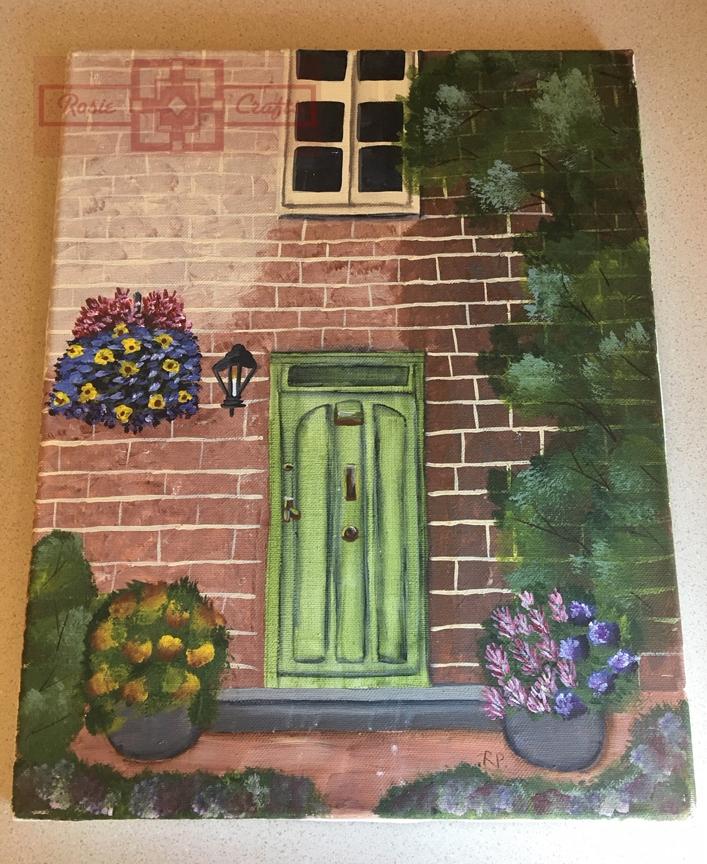 Rosie Crafts Country Doorway Painting