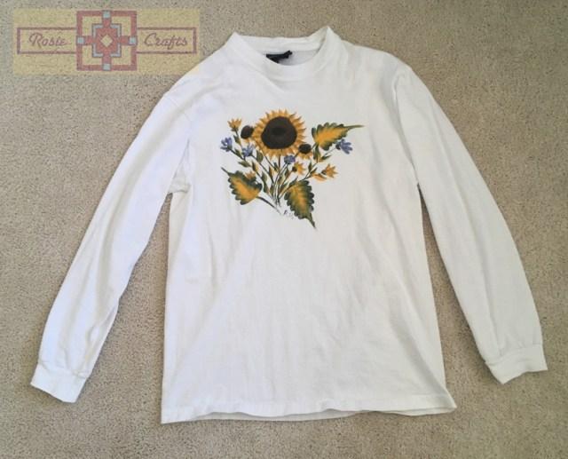 Rosie Crafts Sunflower Painted Shirt