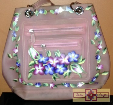 Rosie Crafts Painted Pansy Purse