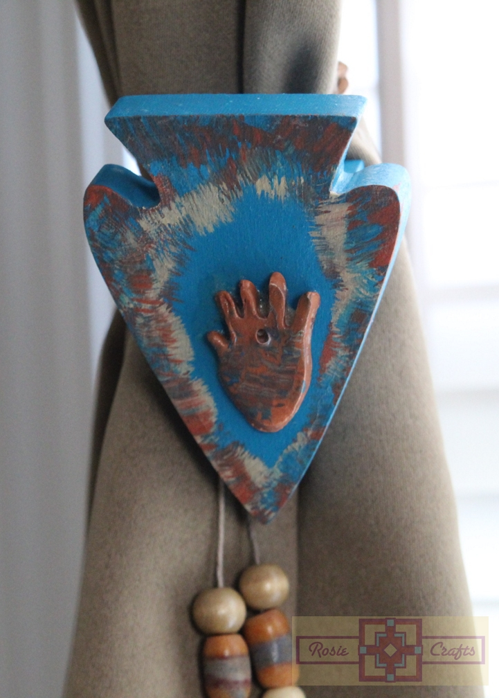 Artisan Tribes Hopi Hand Arrowhead Curtain Tie Backs
