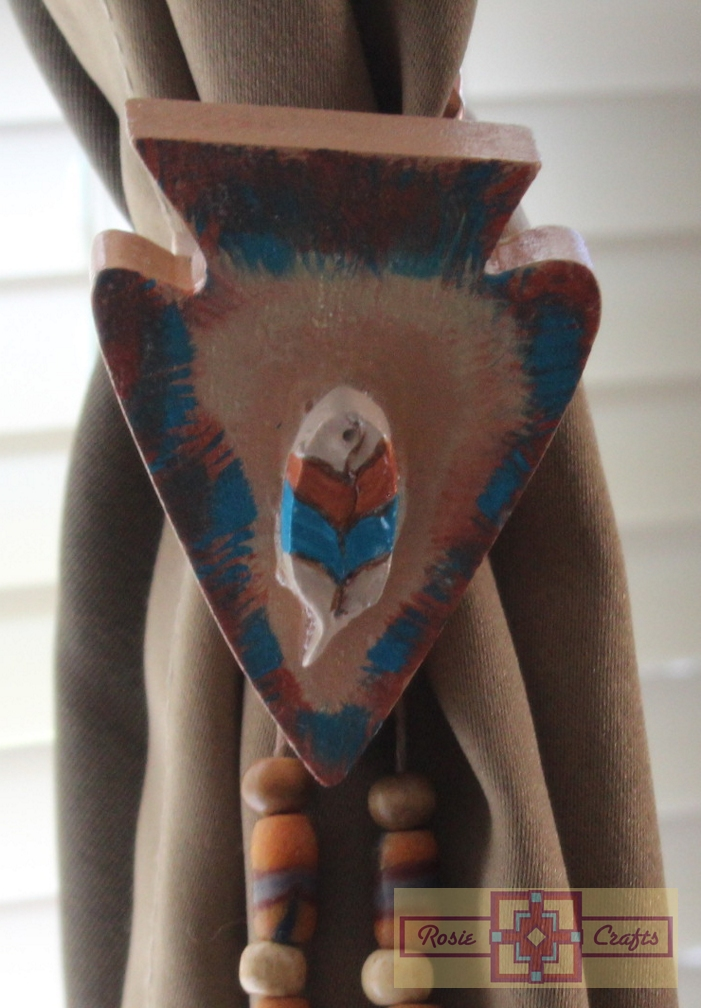 Artisan Tribes Feather Arrowhead Curtain Tie Backs