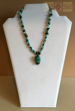 Artisan Tribes Turquoise/Brown Pendant Necklace