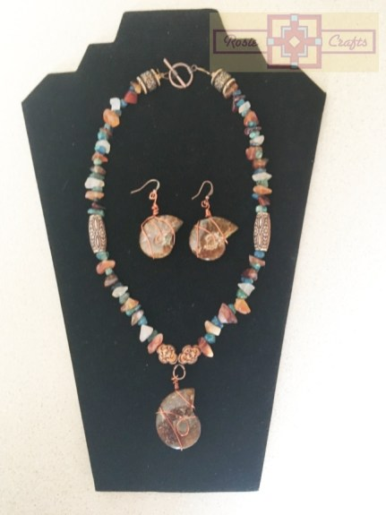 """Rosie Crafts """"By the Seashore"""" Jewelry Set"""