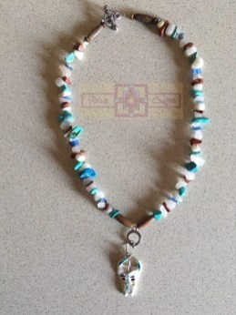 Artisan Tribes Polymer Clay Skull Necklace