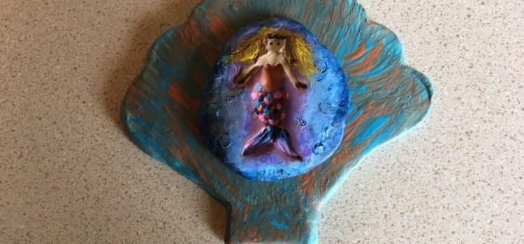 Rosie Crafts Polymer Clay Mermaid Seashell