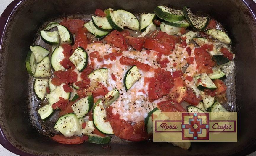 Rosie Crafts Salmon & Veggie Dinner