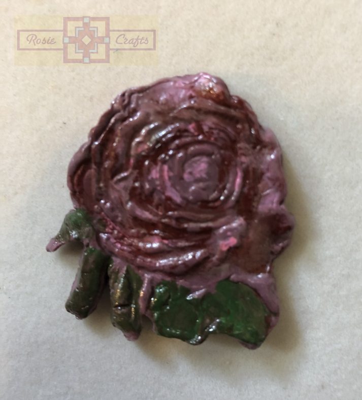 Rosie Crafts Polymer Clay Rose Pendant