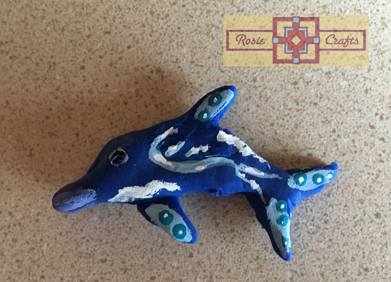Artisan Tribes Polymer Clay Dolphin Pin
