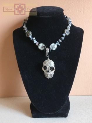 """Rosie Crafts """"Gothic Skull"""" Necklace"""
