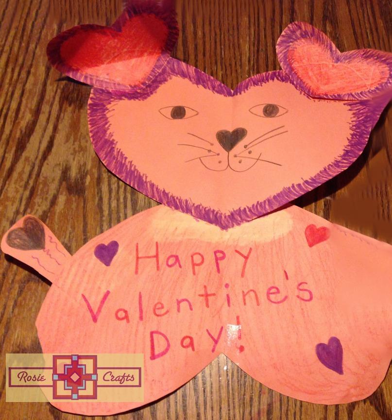 Rosie Crafts Valentine Tiger/Cat Kid Craft