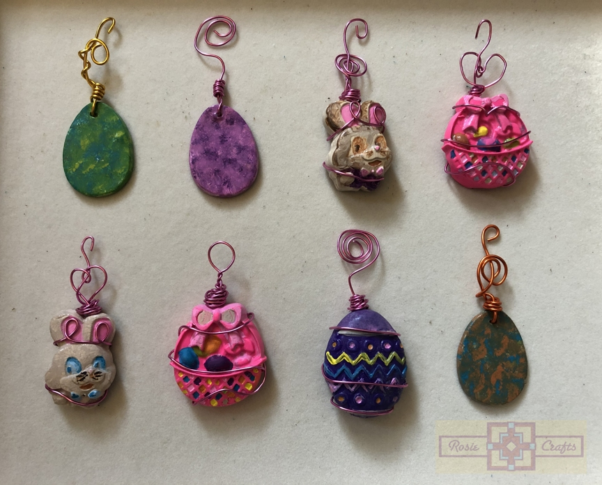 Rosie Crafts Easter Polymer Clay Ornaments