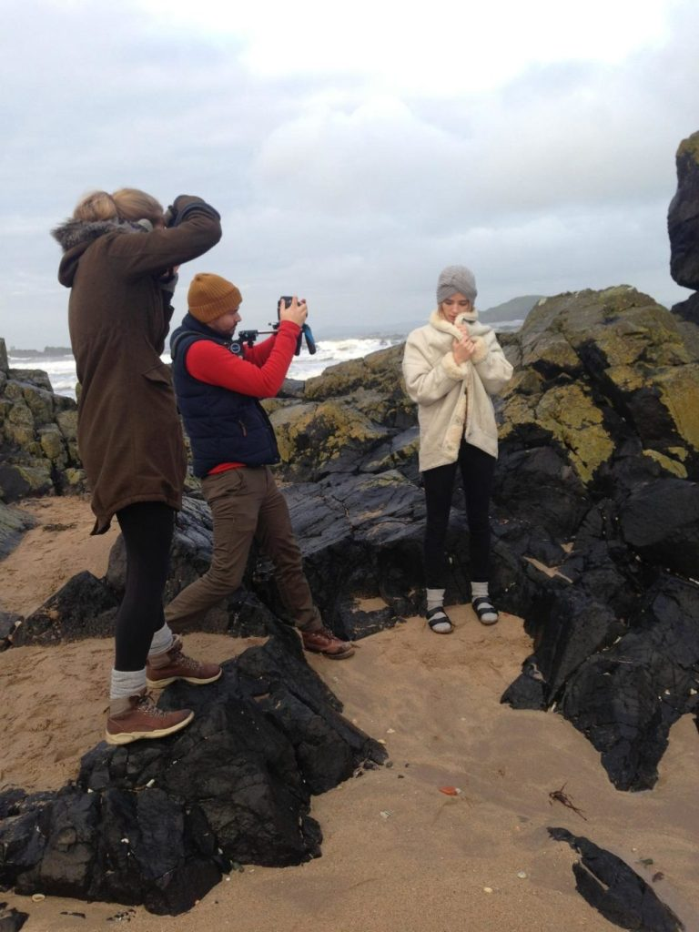 Behind the scenes RS Photoshoot - North Berwick