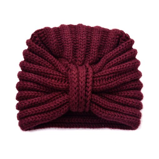 Luxury Scottish cashmere turban | Damson