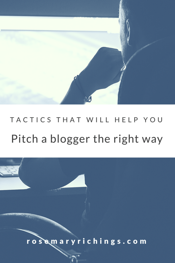 pitching a blogger correctly
