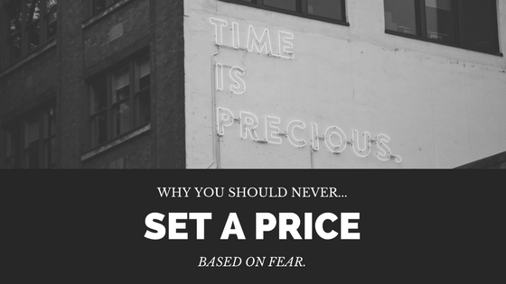 Pricing based on fear disadvantages & solutions
