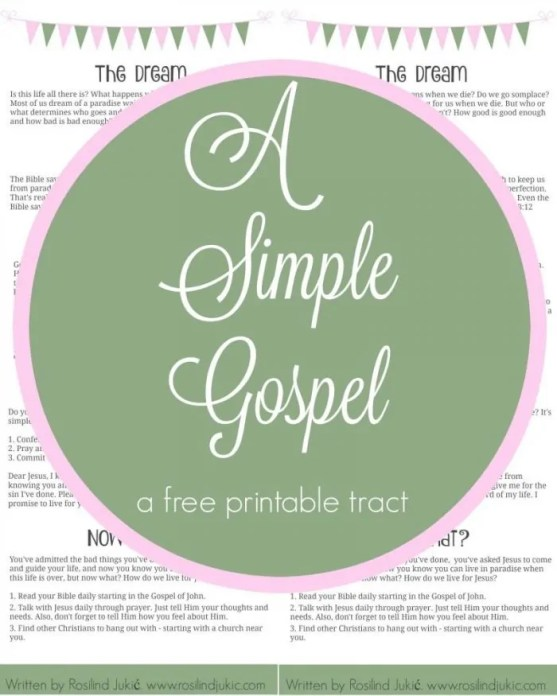 A Simple Gospel is a free tract for you to use as a way to help share the gospel of Jesus Christ.