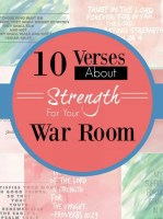 Here ae 10 verses on strenght for your war room
