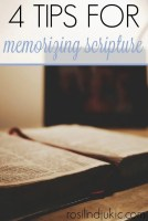 Memorizing Scripture isn't just a good practice, it is an essential discipline for every believer. Check out these 4 tips that will help make memorizing Scripture easier!