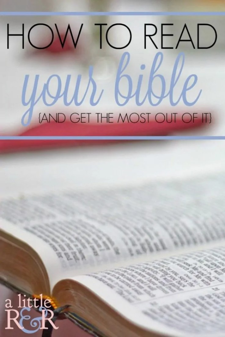 Have you ever wondered where to start reading your Bible? Follow my 4-point plan and learn to read your Bible with confidence!