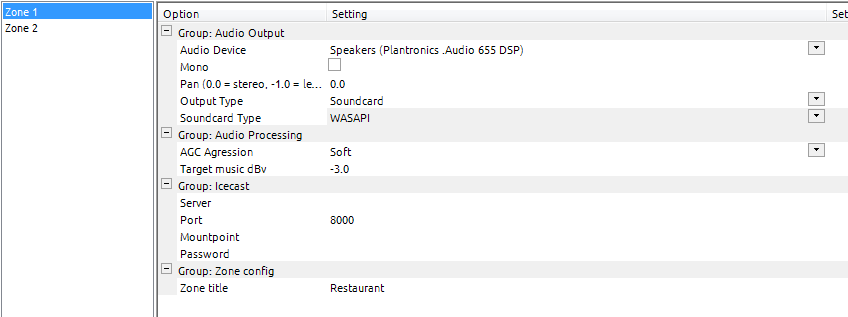 Sound Card Settings in BMS