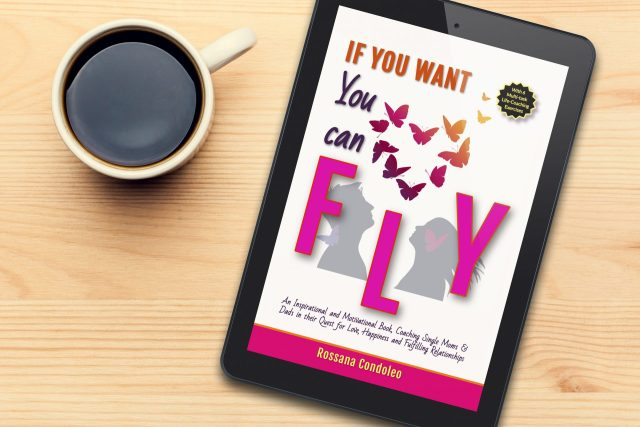 Single dad reading the ebook If You Want You Can Fly by Rossana Condoleo