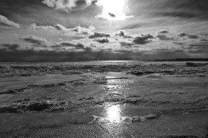 Beach Ice BW