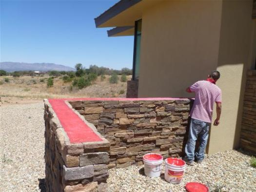 Sealing the front wall top