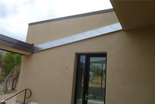 South patio slat support beam