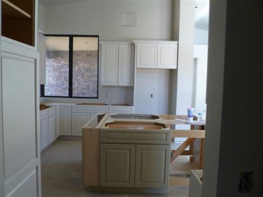 Island and north side of kitchen
