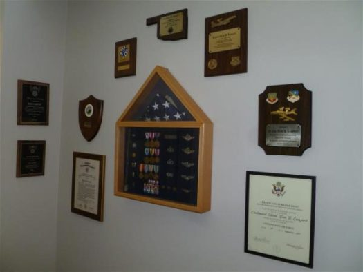 Shadowbox and plaques