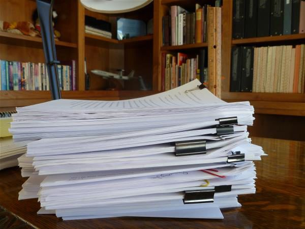 The stack of draft 2 feedback