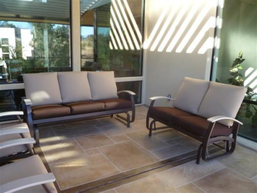 South patio sofa and love seat, small