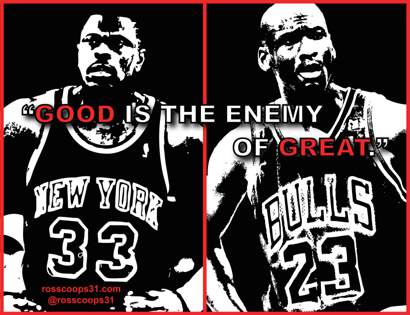 Good is the Enemy of Great, Part 1