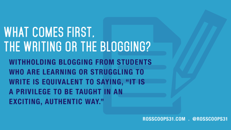 What comes first, the writing or the blogging?