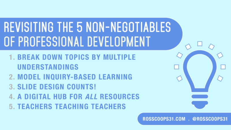 Revisiting the 5 Non-Negotiables of Professional Development