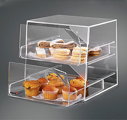 Rosseto Three Tier Clear Acrylic Bakery Display Case With