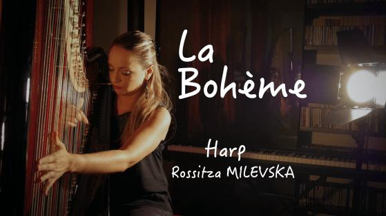 tribute to charles aznavour- boheme-milevska-harp-harpe