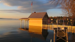 Rosslyn boathouse is flooded