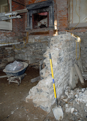 Excavating Rosslyn's Basement, Winter 2006