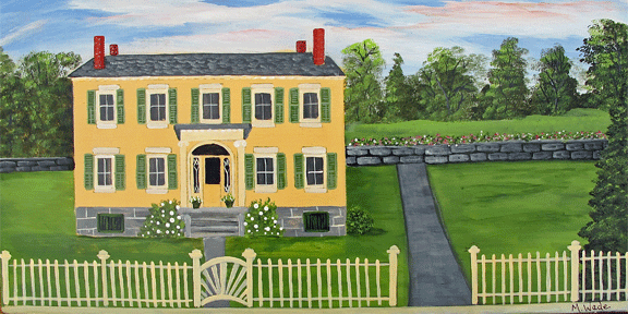 Rosslyn, Essex on Lake Champlain (Painted by Mary Wade)