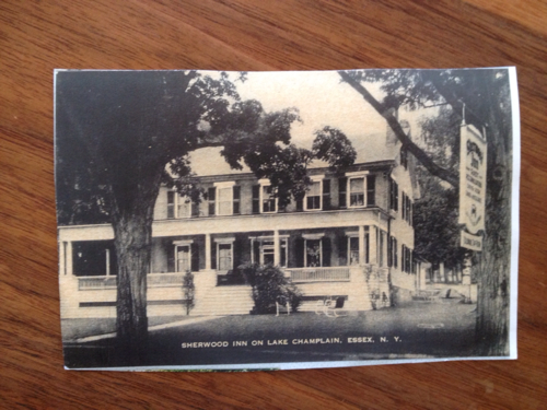 A copy of an vintage Sherwood Inn postcard which I recently received as a gift from a Crater Club neighbor.