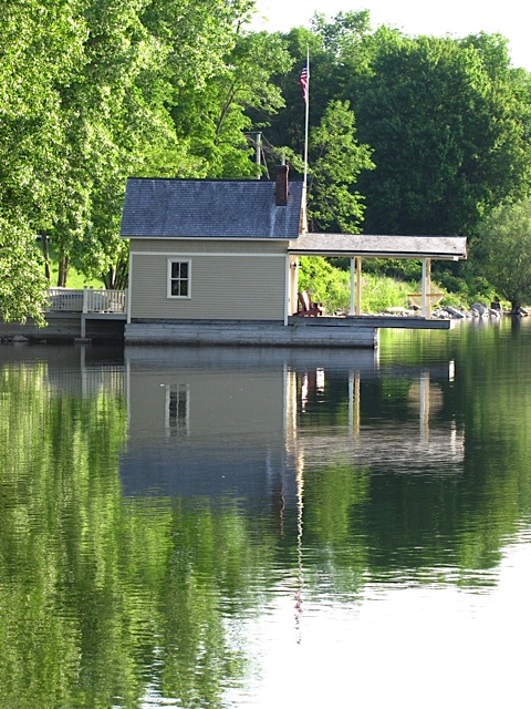 Your boathouse on a more glassy day. (Photo: Eve Ticknor)