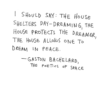 House of Dreams (Quotation by Gaston Bachelard via Keri Smith)