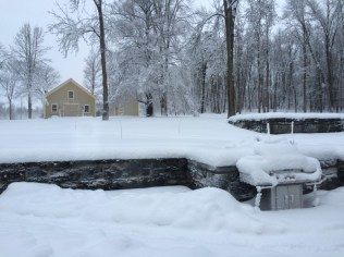 Winter started out with a deep, heavy, wet snowfall in early December 2014 that buried the grill.