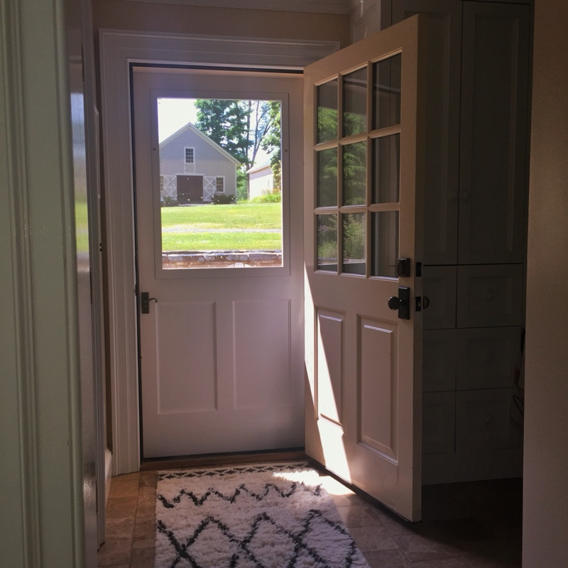 One of Kevin Boyle's new storm + screen doors.
